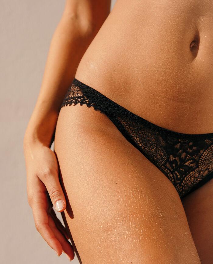 Culotte taille basse Noir Chic