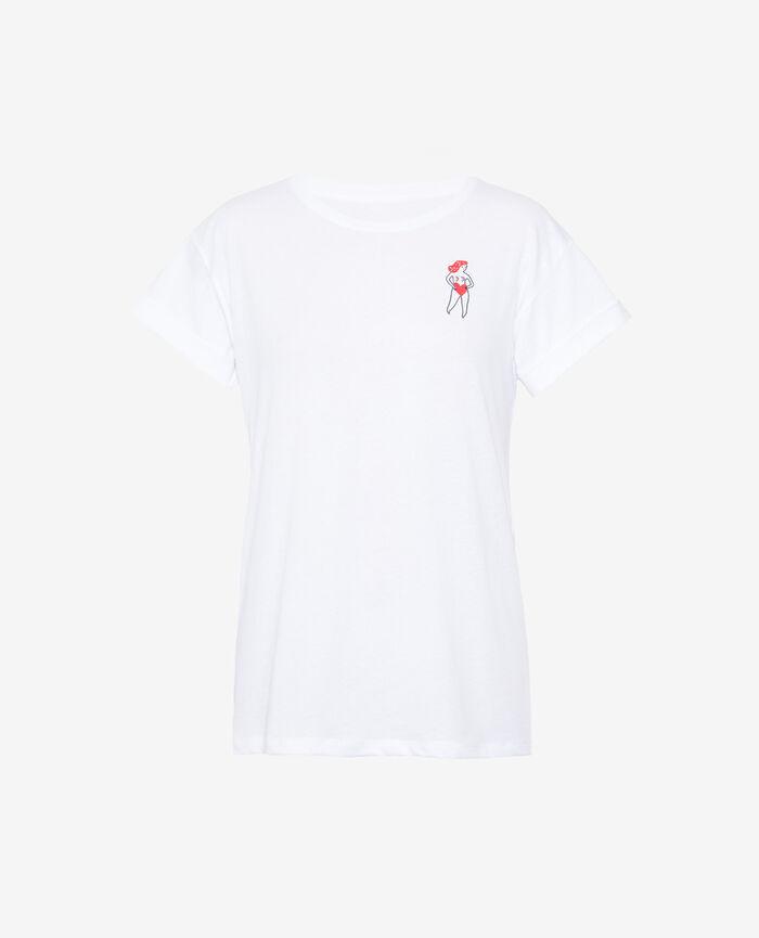 T-shirt manches courtes Blanc agathe A la folie