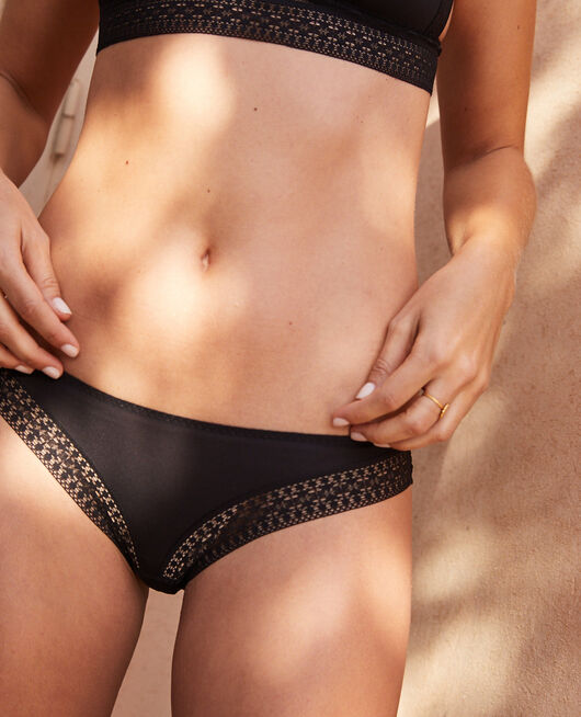 Hipster briefs Black Simone