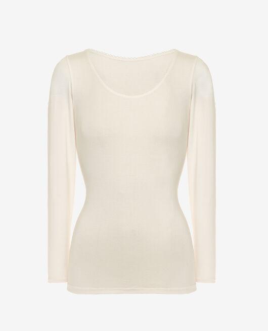 Top manches longues Blanc rosé Innerwear