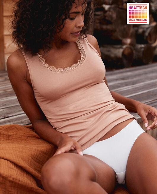 T-shirt sans manches Beige camel Heattech© extra warm