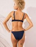 Mini-wire triangle bikini top Midnight blue Natte