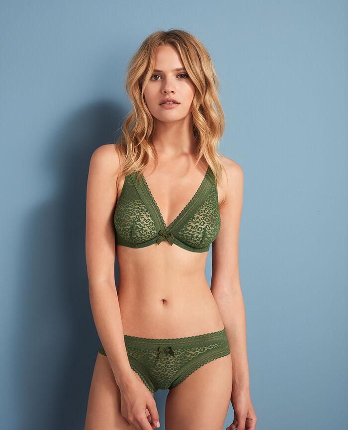 Underwired triangle bra Agency green Belle