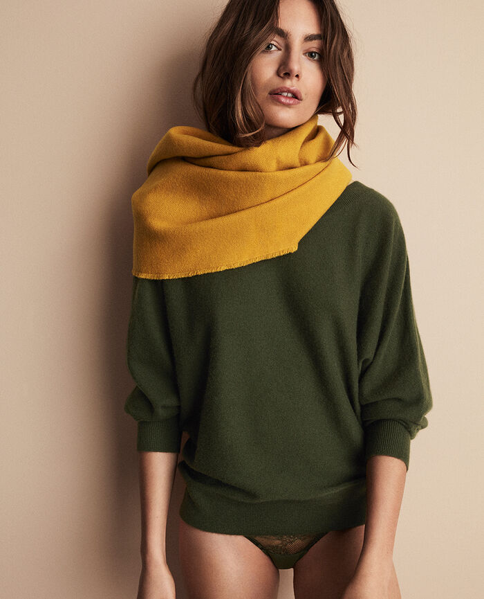 Pull col bateau Vert mousse Icone
