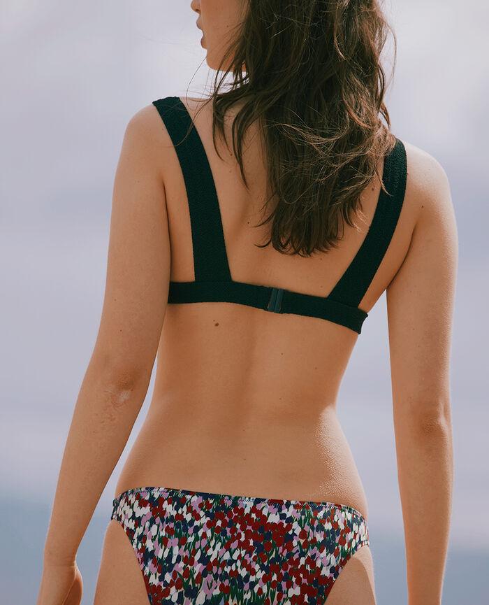 Padded triangle bikini top Garden green Divine
