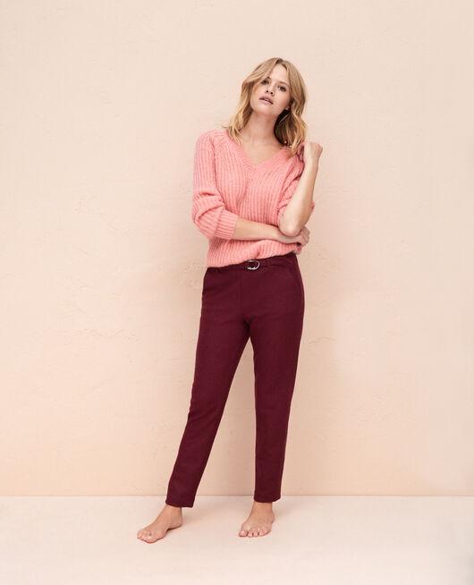 Pantalon Rouge cassis Perspective