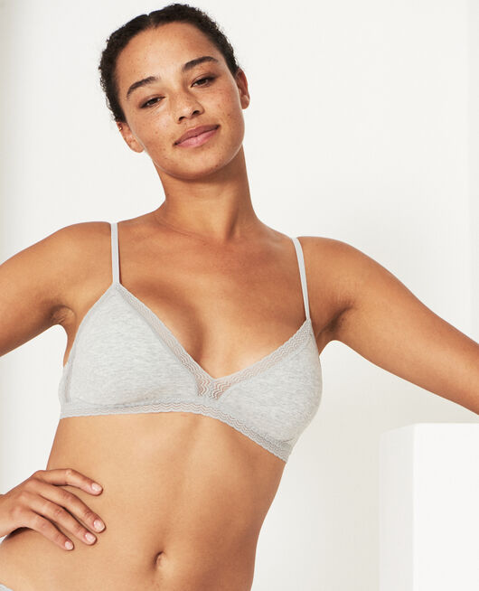 Wireless padde bra Flecked grey Echo