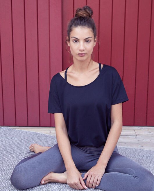 Sports short-sleeved t-shirt Black Yoga