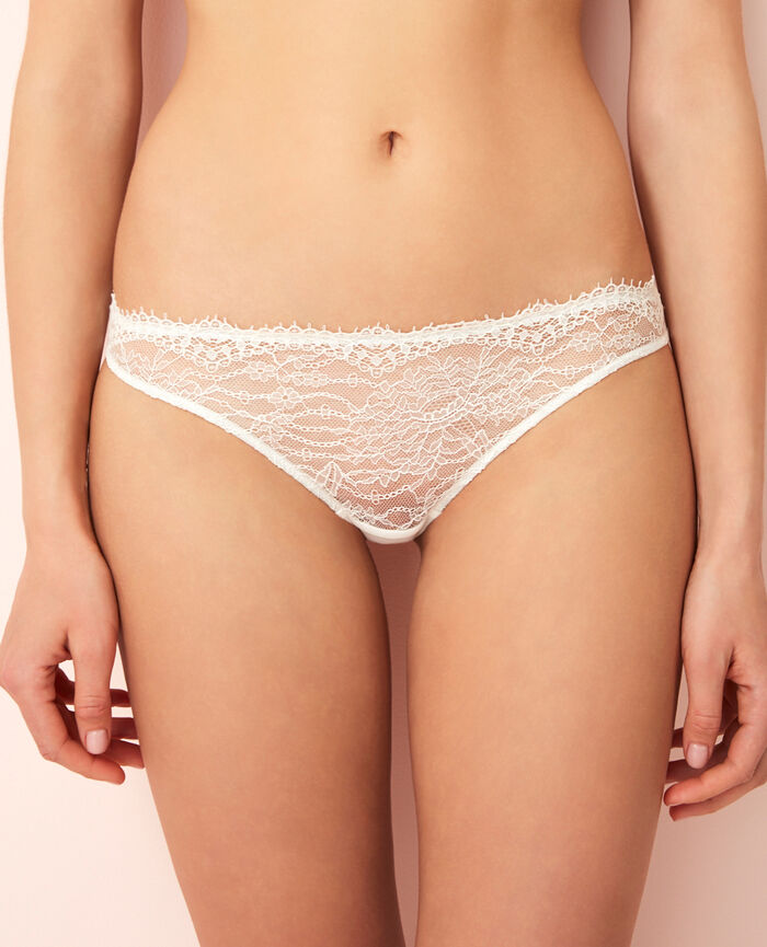 Culotte taille basse Ivoire Chantilly