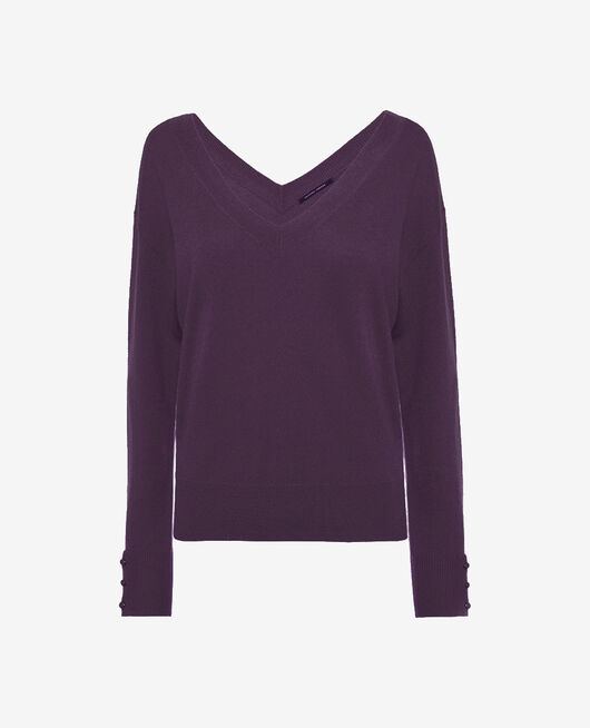 V-neck jumper Cabaret blue Icone