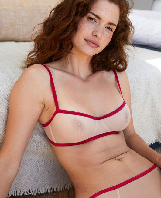 Demi-balconette bra Powder Paresse