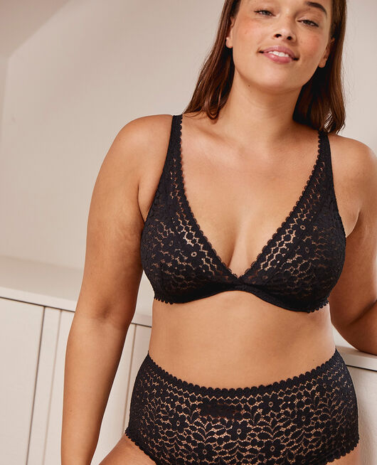 Underwired triangle bra Black Monica
