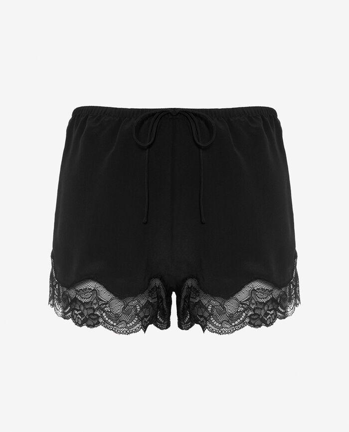Short de pyjama Noir Divine