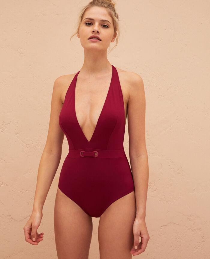 Swimsuit halterneck Sultan violet Impala