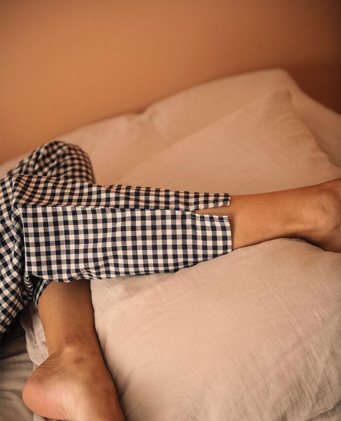 Pantalon Croisette noir Relax flanelle
