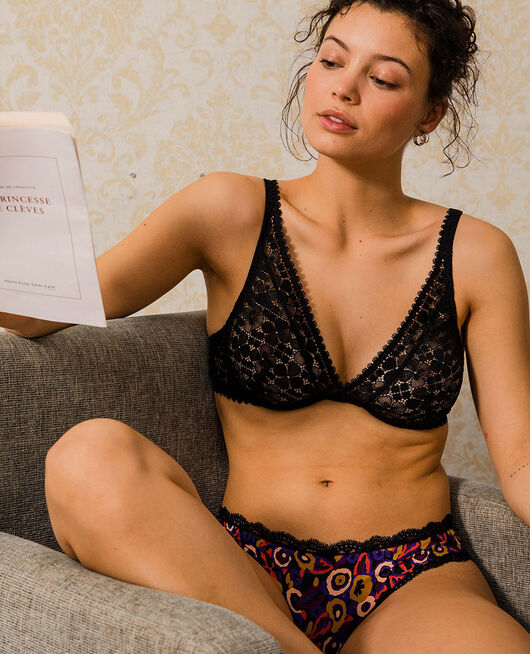 Underwired triangle bra Black Josephine