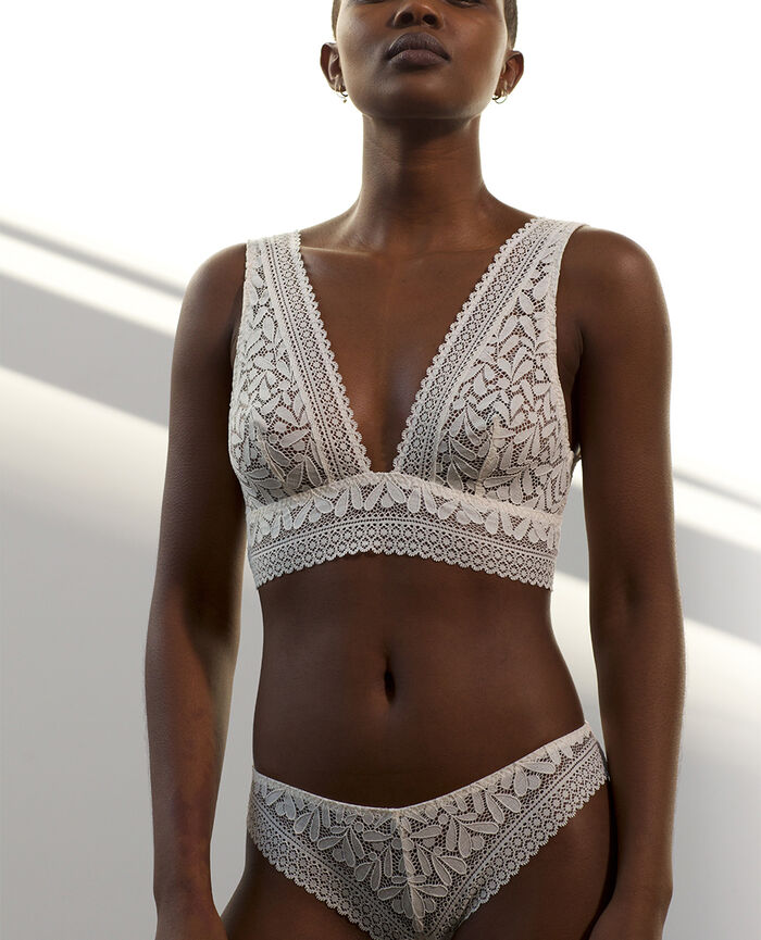 Soft bustier bra Rose white Evidence - the take it easy