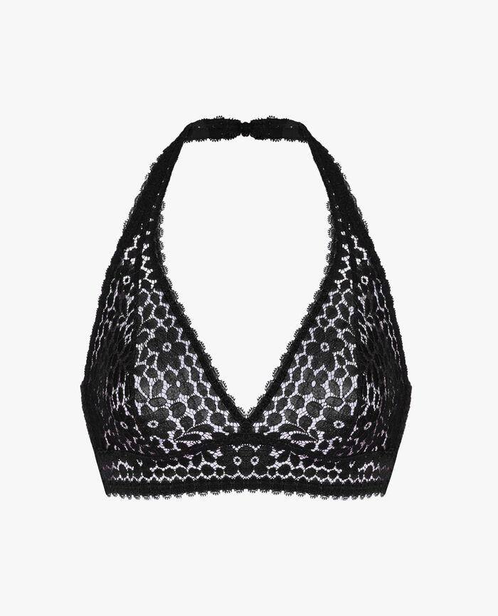 Backless triangle bra multi-position Black Monica