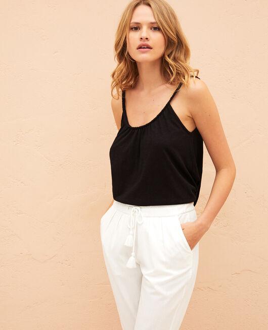 T-shirt sans manches Noir Argan