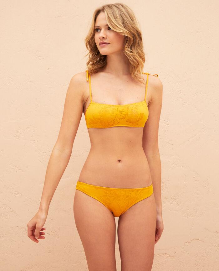 Concealed underwired strapless bikini top Sahara yellow Gueliz
