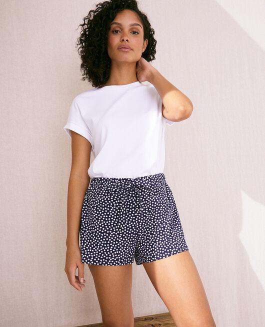 Pyjama shorts Blue polka dots Echo