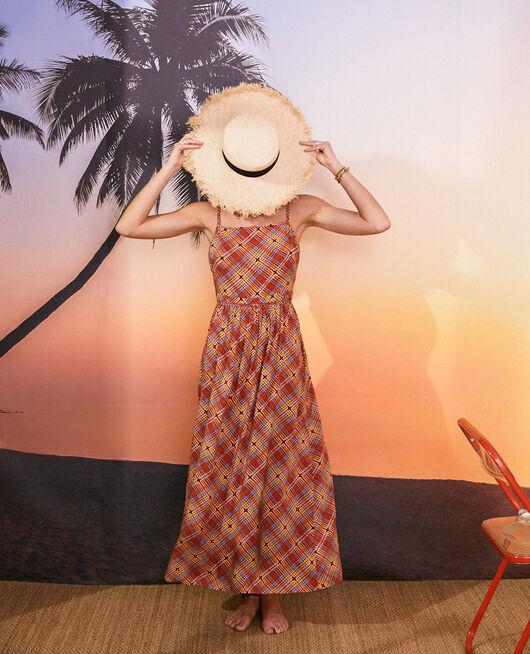 Robe longue Marron foulard Vacanze