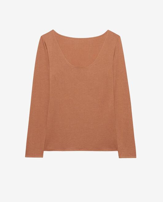 Long-sleeved t-shirt Nutmeg brown Heattech® innerwear