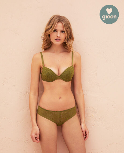 Padded push-up bra Oasis green Atlas
