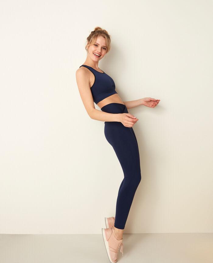 Soft sports bra Navy Yoga