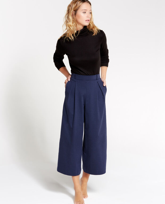Gaucho pants Abyss blue Neptune