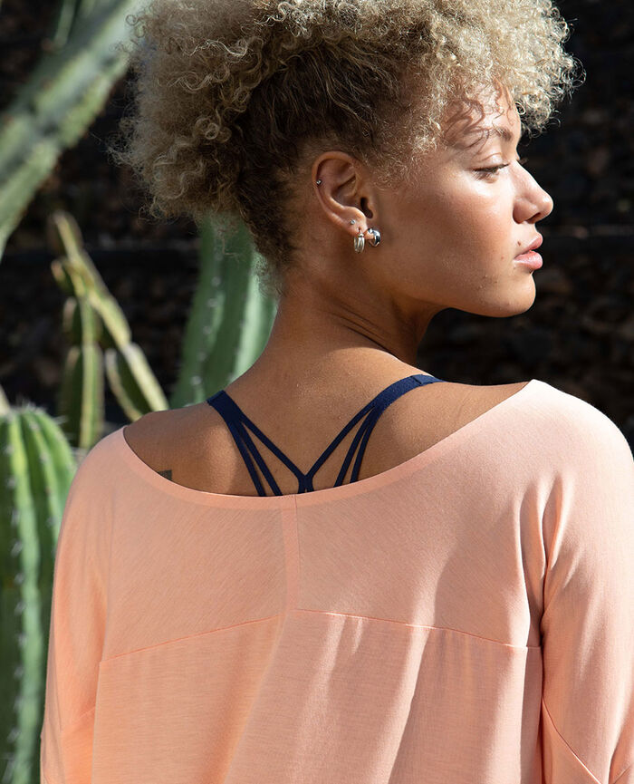 Short-sleeved sports top Iced pink Airism