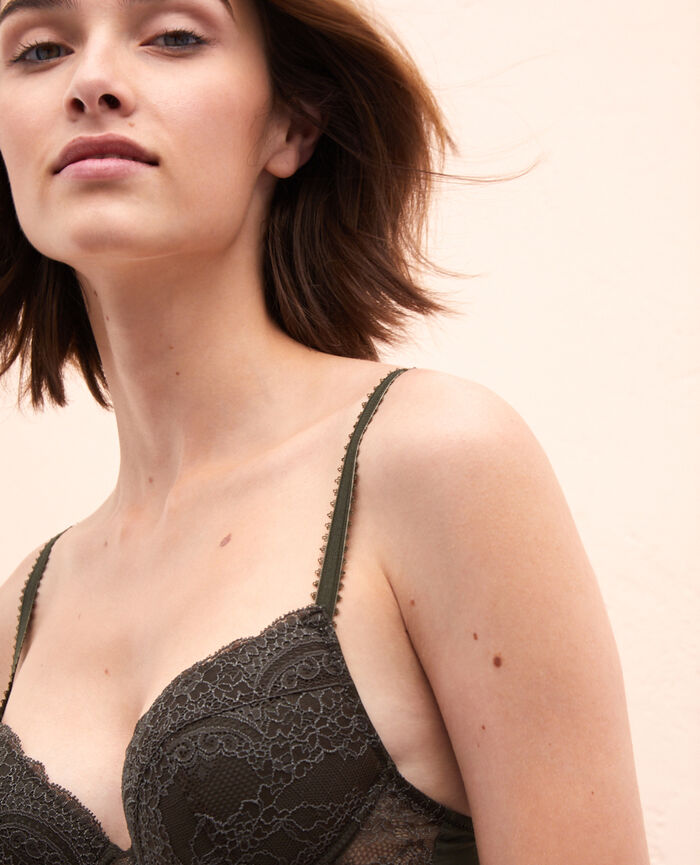 Soutien-gorge push-up mousses Vert mousse Esquisse