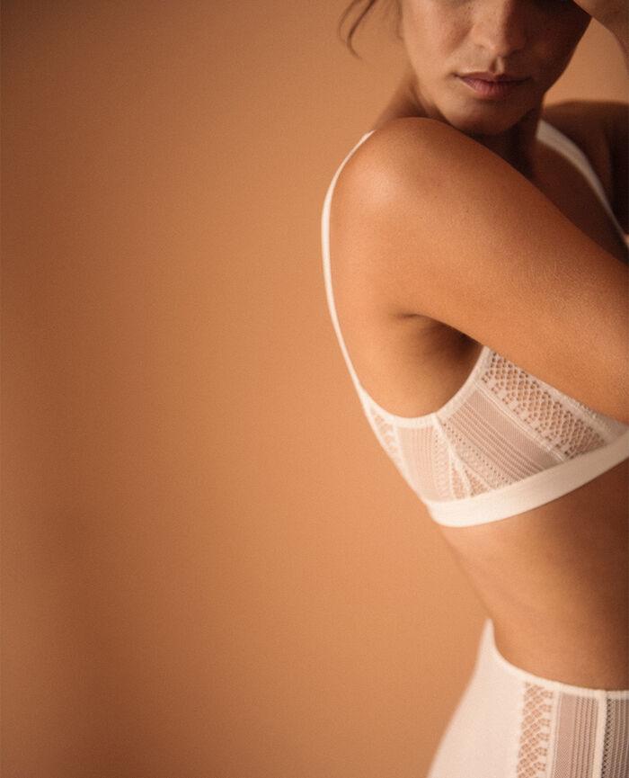 Soft bustier bra Ivory Eclat - loungerie