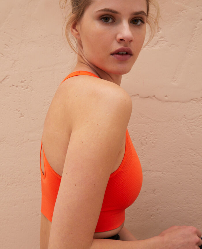 Brassière maintien léger Orange sanguine Yoga