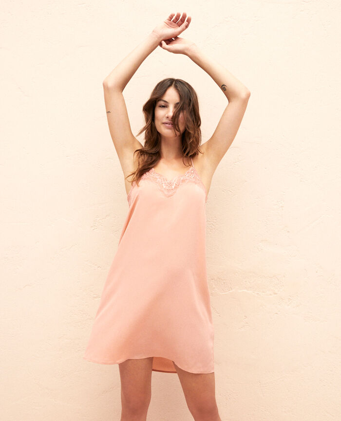taille 40 10a76 517a3 Nuisettes & Chemises de nuit femme Soie Taille 42 Rose ...