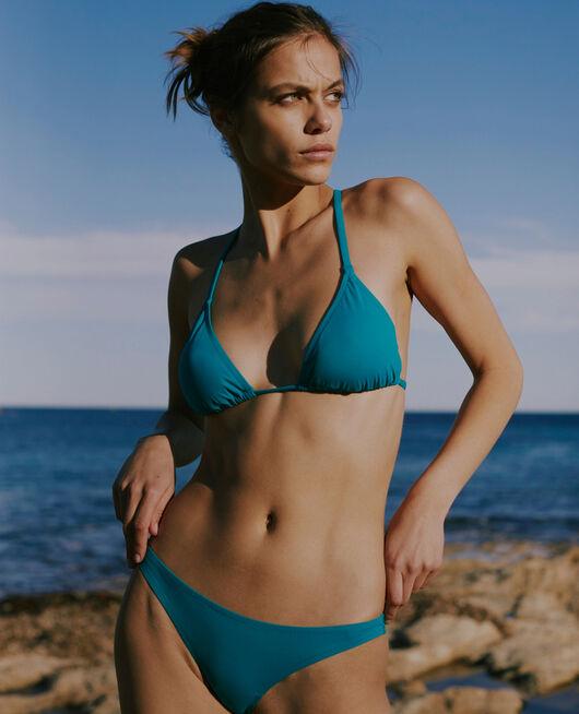 Padded triangle bikini top Sea green Twist