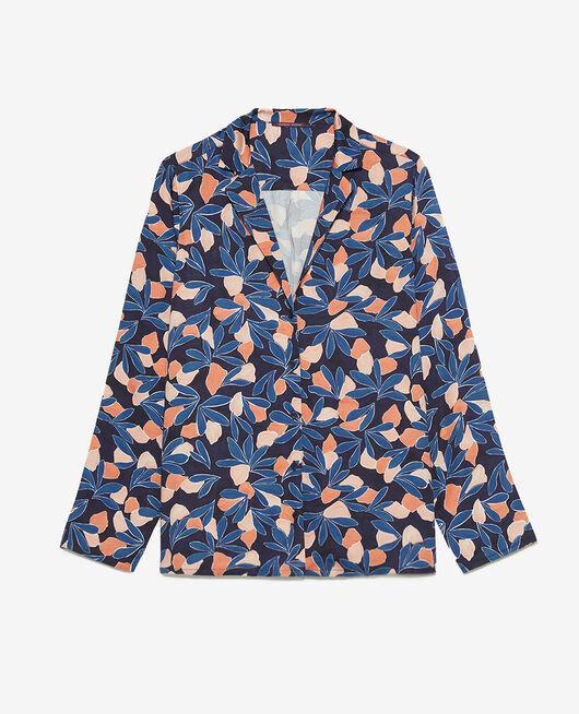 Pyjama jacket Storm blue watercolour Attitude imprime