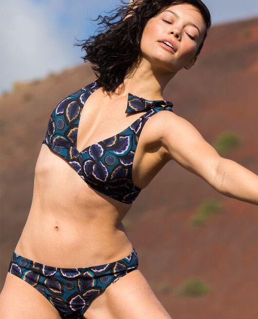 Underwired triangle bikini top Blue wax Wax