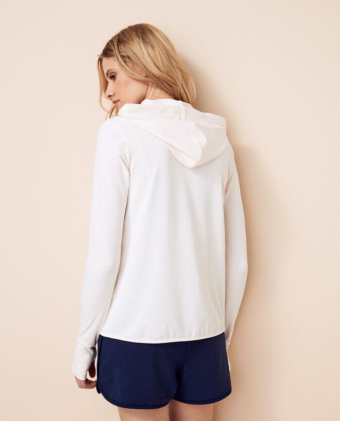 Hoodie Rose white Air loungewear