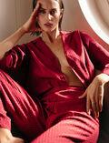 Veste de pyjama Rouge camelia Boudoir