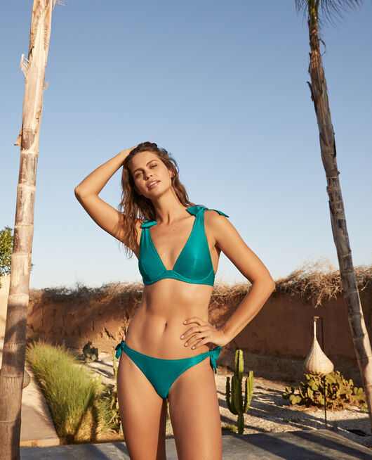 Underwired triangle bikini top Sea green Reve