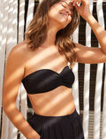 Concealed underwired strapless bikini top Black Pompon