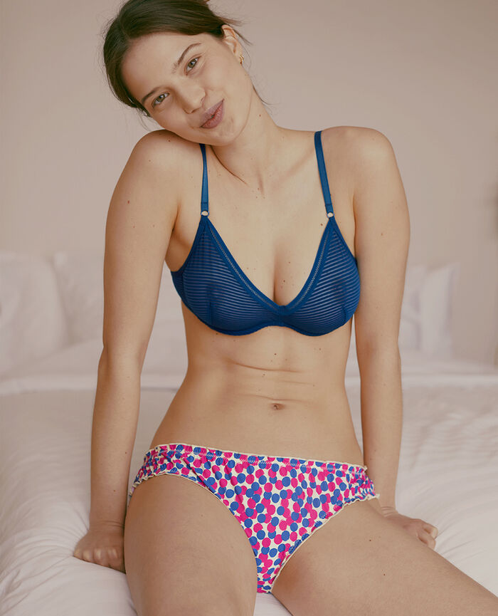 Underwired triangle bra Deckchair blue Horizon