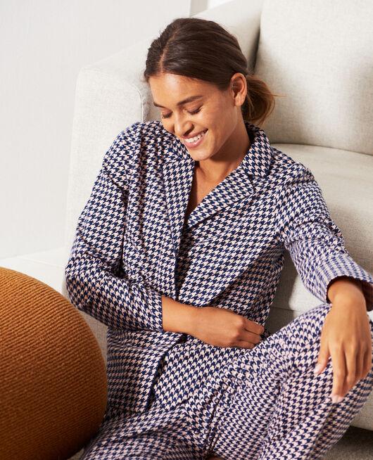 Set pyjama Pied de poule bleu marine Dodo