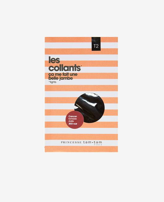 Collant fantaisie 30d Noir Cancan