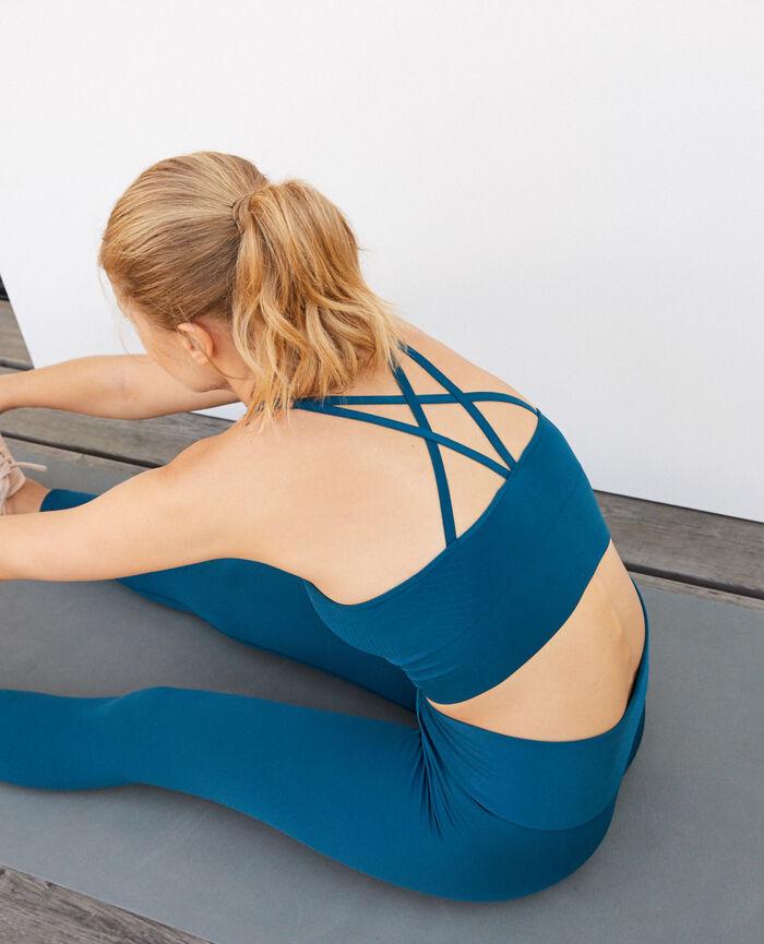Brassière maintien léger Bleu jazz Yoga