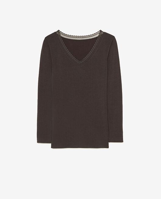Long-sleeved t-shirt Grey fog Heattech© extra warm