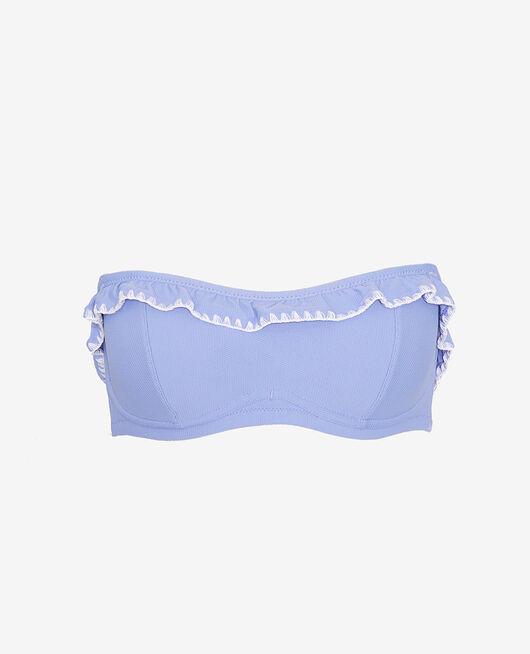 Maillot de bain bandeau armatures Bleu diva Froufrou