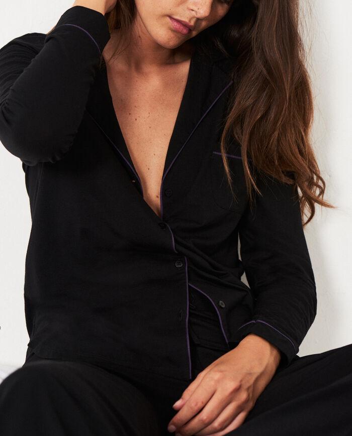 Veste de pyjama Noir Dimanche