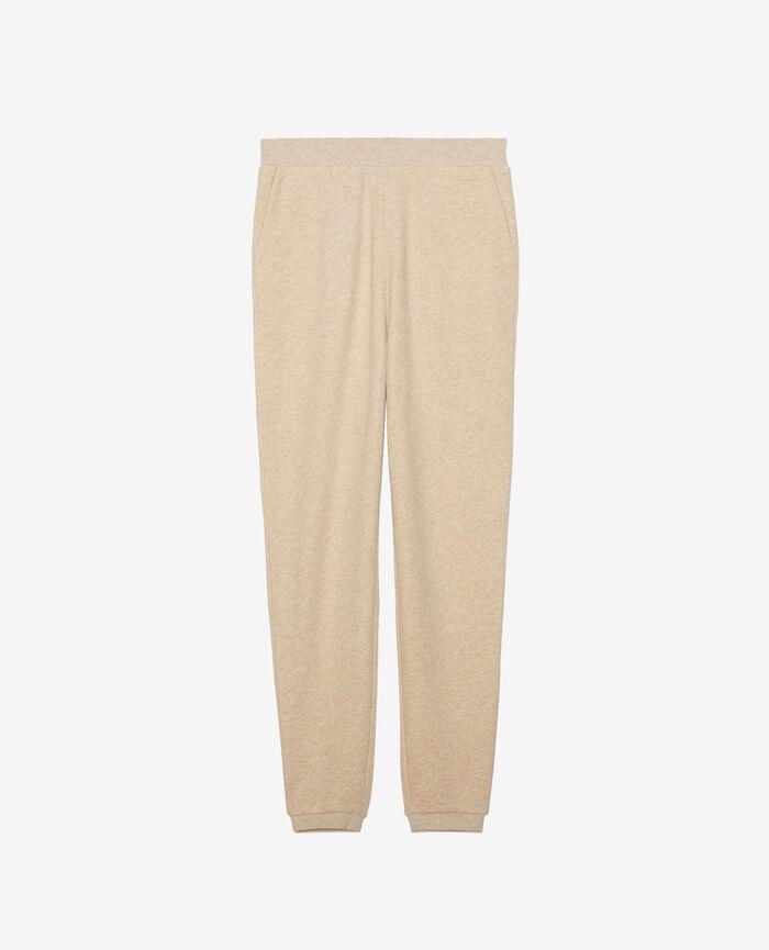Jogging pants Flecked beige Doudou